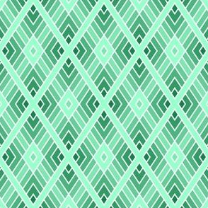 diamond fret : jade green