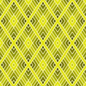 diamond fret : yellow olive