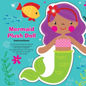 Mermaid Plush Doll Kit