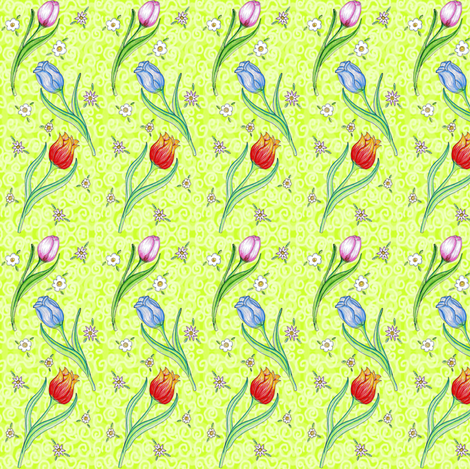 The Three Tulips and a lime swirl