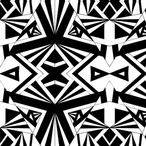Black & white Geometric Print