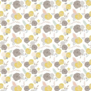 Mini summer blooms on white 3