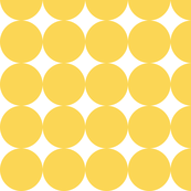 Huge Polka Dots - Bright Yellow by Friztin