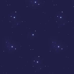 Purple Star Clusters