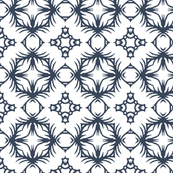 Abstract in Slate Blue and White