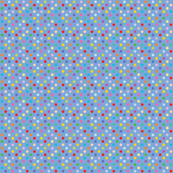Rainbow Polka Dots - Blue