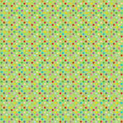 Rainbow Polka Dots - Green
