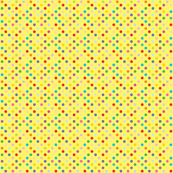 Rainbow Polka Dots - Yellow