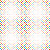 Rainbow Polka Dots - White