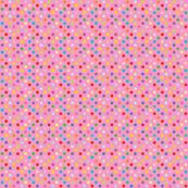 Rainbow Polka Dots - Pink