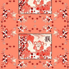 Red Cupcake Monkey In Candy Jungle! - Coral