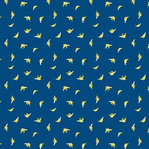 Banana Ditsy on Blue