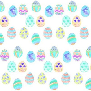 easter eggs decorative blues mini