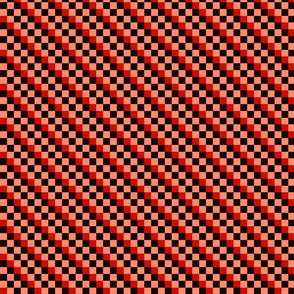 Diagonal Checkered Stripes - B