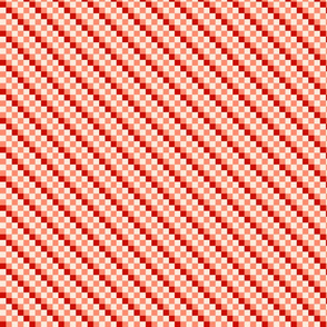 Checkered Diagonal Stripes - D