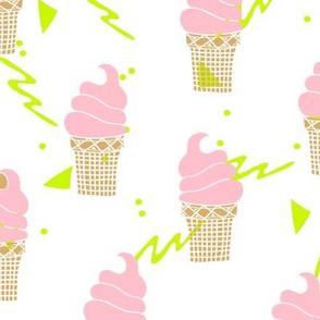 ice cream // ice cream cone mint purple pastel sweets summer cute pastel ice cream shop