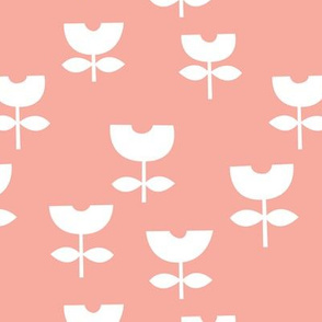 Sweet poppy flower abstract scandinavian style tulip soft pink blush coral
