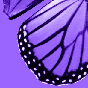Oversized Purple Monarch Wings