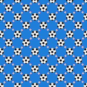 Soccer blue pattern
