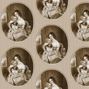 Danita's Godey Print of Mother & Child