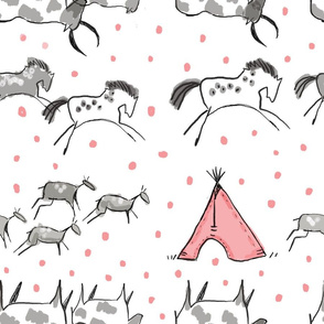 Cave Drawings in Pink