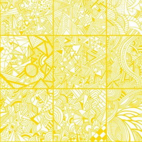 Zentangle Squares Mustard Yellow