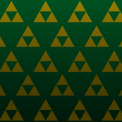Green Triangle Triforce Sacred Geometry