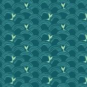 mermaid_waves_dark background