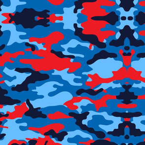 Camouflage red and blue, camo army