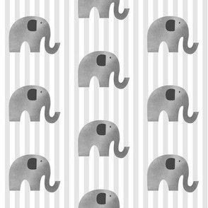 Elephant Gray Stripes