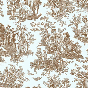 French Toile...Negro Toil (Mint / Chocolate)