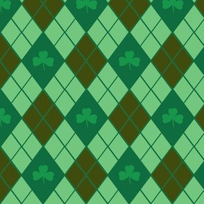 Irish Argyle (Chocolate)