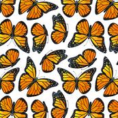 Monarch Butterfly Watercolor Pattern