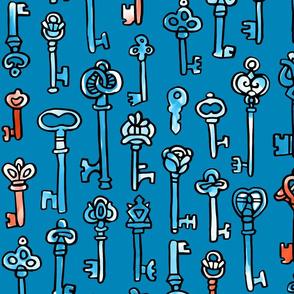 Keys blue