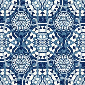 Blue Deco Circle Pattern