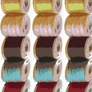 line of spools by Diane Gilbert