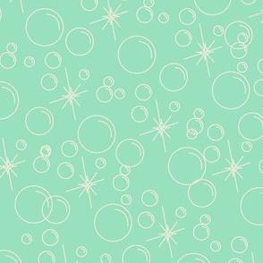 Bubbles- Mint Background