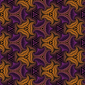 Ornament pattern of fractal shapes