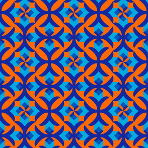 Decorative seamless patterns with geometric ornament
