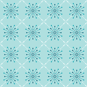 Arrow Starburst Vector in Petrol Blue and White