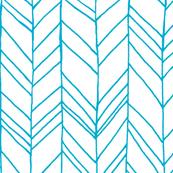 Featherland White/Turquoise LARGE