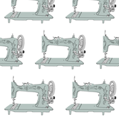 Sew Vintage Sewing Machines in Gray