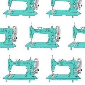 Sew Vintage Sewing Machines in Aqua