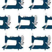 Sew Vintage Sewing Machines in Dark Blue