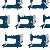 Sew Vintage Sewing Machines in Dark Blue