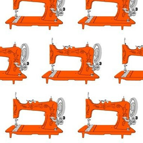 Sew Vintage Sewing Machine in Orange