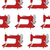 Sew Vintage Sewing Machines in Red