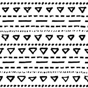 black white triangle stripes dots