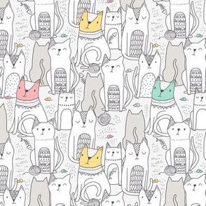Doodle cats MEDIUM scale