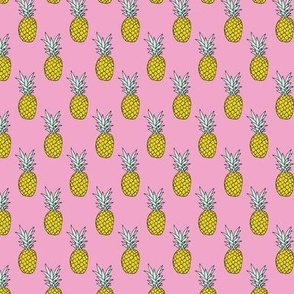 Hot summer pineapple pink tropical summer fruit trend XS